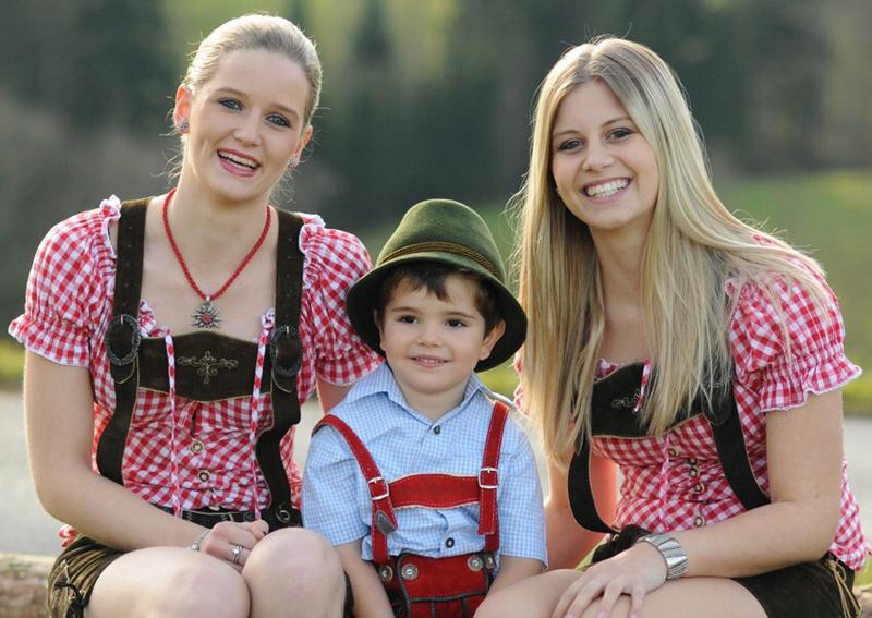 Familienfoto vom Campingplatz Hochlitten