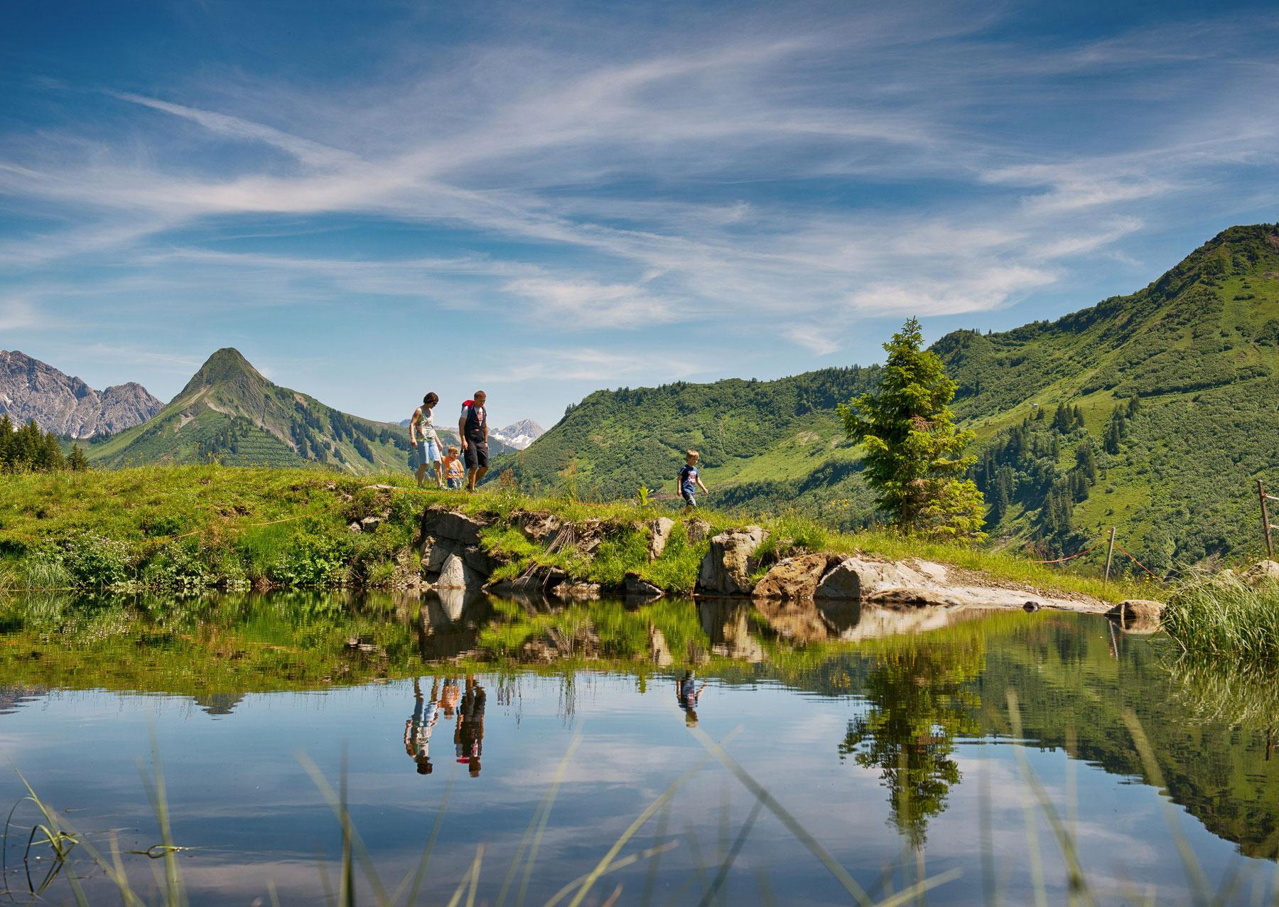 Wandern bei der Alpe Oberdamüls