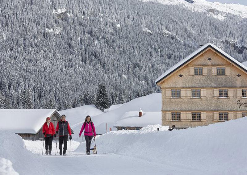 Winterwandern in Vorarlberg