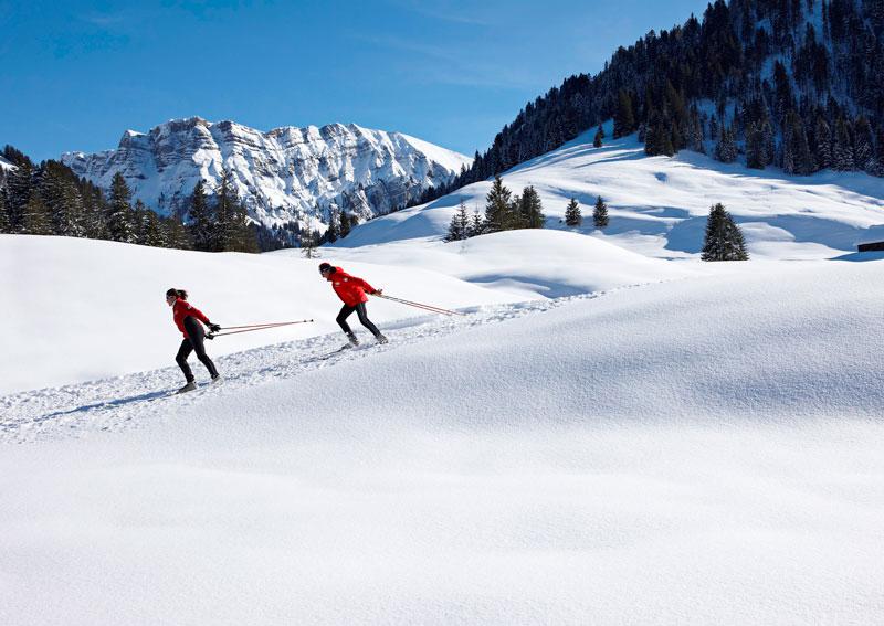 Langlaufen in Schönenbach, Vorarlberg