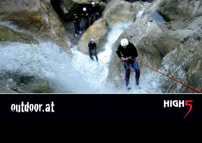 Canoyoning in Vorarlberg von High5
