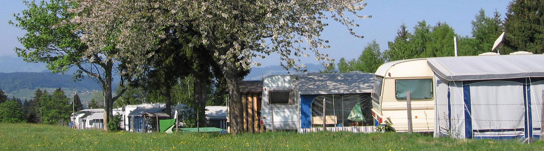 Campingplatz in der Natur